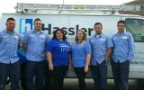Hassler Heating team members in front of a truck in El Cerrito, CA