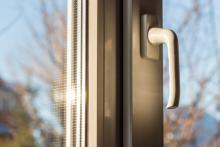 close up of closed window