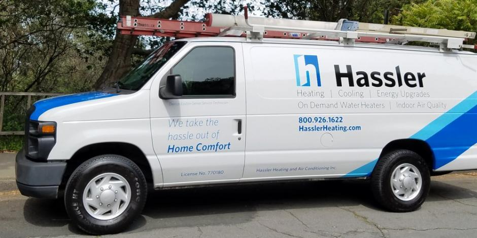 hassler heating HVAC service truck for the city of Orinda
