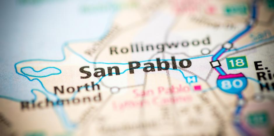 san pablo CA map