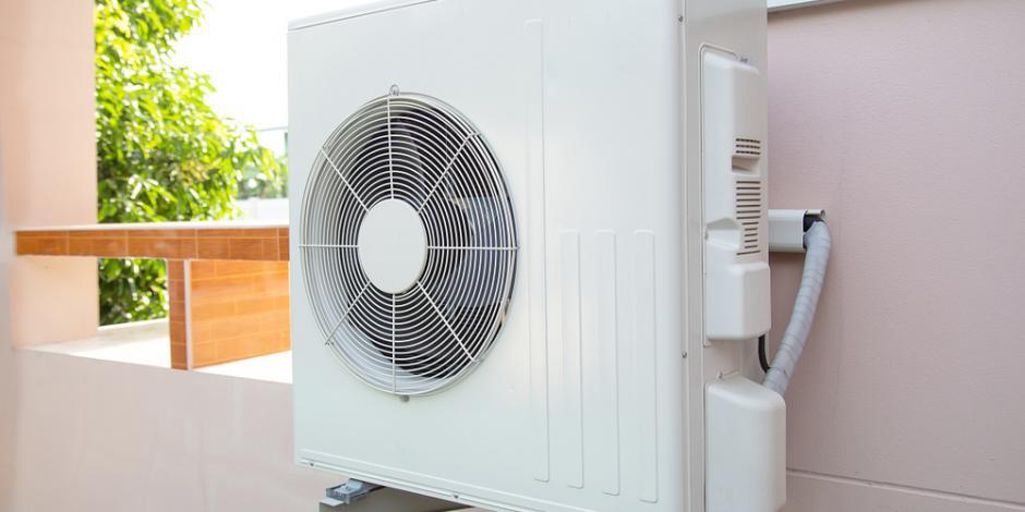 heat pump exterior of home spring